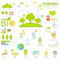 Ecology infographics illustration of chart in flat style Royalty Free Stock Images
