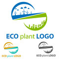 Ecology logo green energy abstract concept Stock Photos