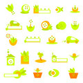 Ecology logos, banners and icons Royalty Free Stock Images