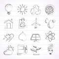 Ecology nature and environment icons vector icon set Stock Photography