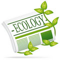 Ecology newspaper. Royalty Free Stock Images