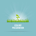 Ecology preservation vector illustration of green template of concept Royalty Free Stock Photos
