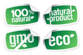 Ecology product stickers Royalty Free Stock Photo