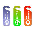 Ecology and recycle tags for environmental design Royalty Free Stock Photo