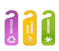Ecology and recycle tags for environmental design Royalty Free Stock Photography
