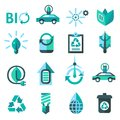 Ecology And Recycling Icons Royalty Free Stock Photo