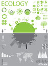 Ecology, recycling info graphics collection Stock Images