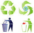 Ecology and recycling signs Stock Photography