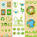 Ecology sets Royalty Free Stock Photo