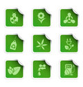 Ecology stickers 1 Royalty Free Stock Photo