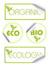 Ecology stickers Royalty Free Stock Photo