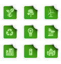 Ecology stickers 2 Royalty Free Stock Photo