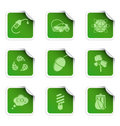 Ecology stickers 3 Royalty Free Stock Photo