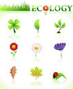 Ecology symbols natural Royalty Free Stock Photos