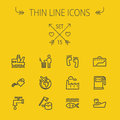 Ecology thin line icon set