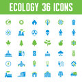 Ecology Vector Icons Set - Creative Illustration on Energy Theme Royalty Free Stock Photo