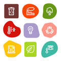 Ecology web icons, colour spots series Royalty Free Stock Photo