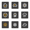 Ecology web icons set 2, grey buttons series Royalty Free Stock Photo