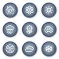 Ecology web icons set 2, mineral circle buttons Stock Image