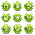 Ecology web icons set  Royalty Free Stock Images