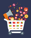 Ecommerce design,  illustration. Royalty Free Stock Photo