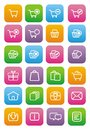 Ecommerce icons - flat style icons Royalty Free Stock Photo