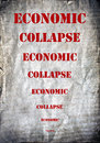 Economic collapse letters on a grunge postcard background Stock Photos