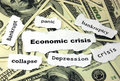 Economic crisis Royalty Free Stock Photos
