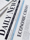 Economic crisis headline Royalty Free Stock Photo