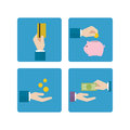 Economic hand icon