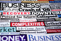 Economic Headlines Royalty Free Stock Photos