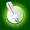 Economical bulb vector illustration Royalty Free Stock Images