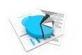 Economical business diagram d illustration of Stock Photo