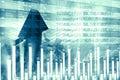 Economical stock market chart Royalty Free Stock Photo