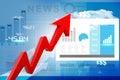 Economical stock market graph digital illustration of Stock Photo