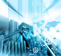 Economical stock market graph digital illustration of Royalty Free Stock Photos