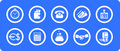 Economics  icons set Royalty Free Stock Photo