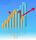 Economy chart world growth illustration Stock Images
