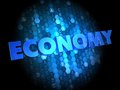 Economy on Dark Digital Background. Royalty Free Stock Image