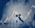 Economy and finance of Italy Royalty Free Stock Photo