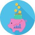 Economy Flat Icon