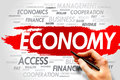 Economy word cloud business concept Royalty Free Stock Photos