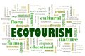 Ecotourism concept Royalty Free Stock Photography
