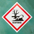 Ecotoxic hazard symbol warning sign Royalty Free Stock Photo