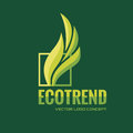 Ecotrend - vector logo template concept illustration. Nature leaves abstract sign. Bio product symbol. Design element