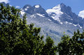 The ecrins valley the french a Stock Photo