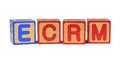 ECRM - Colored Childrens Alphabet Blocks. Royalty Free Stock Photos