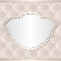 Ecru background beige with vintage frame Stock Photos