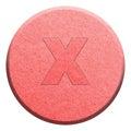 Ecstasy pill isolated on white Royalty Free Stock Photo
