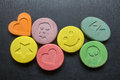 Ecstasy pills Royalty Free Stock Photo